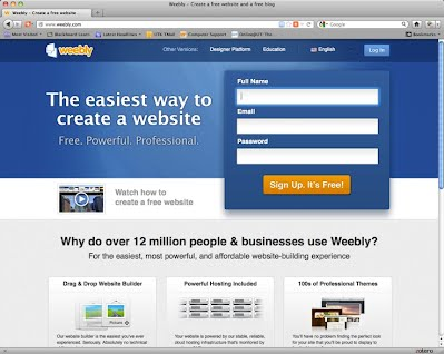 Weebly Sign Up Page