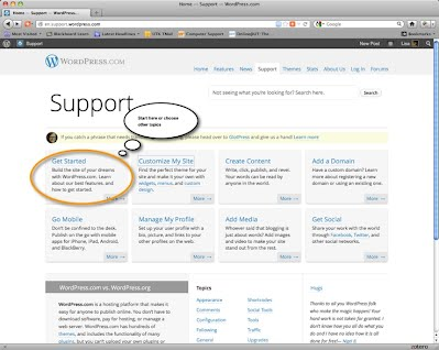 WordPress Support Page